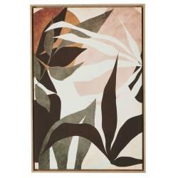 Tableau Feuilles Athezza Impression sur Toile Décoration Murale 64x94cm