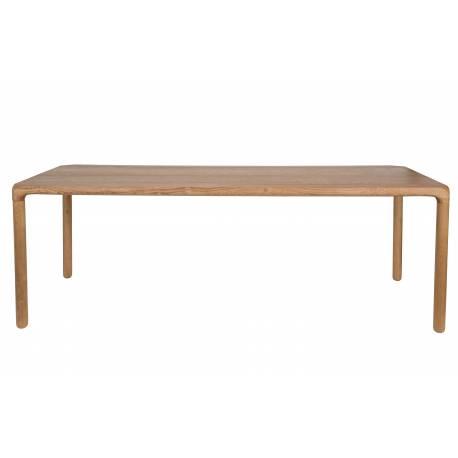 Table Console Barbier Zuiver Frêne Massif Marron 35x74x120cm