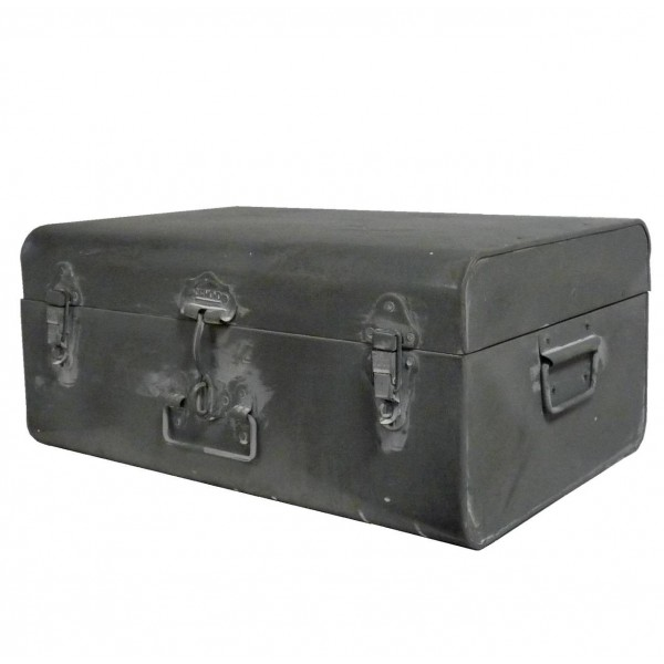 Cantine de Rangement Malle à Jouets Coffre en Zinc Style Ancien 21x32x46cm