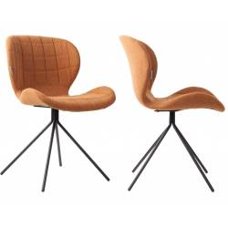 Lot de 2 Chaises Design OMG Zuiver Camel en Tissu 51x56x80cm