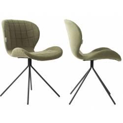 Lot de 2 Chaises Design OMG Zuiver Vert en Tissu 51x56x80cm