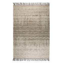 Tapis Liv Taupe Woody Carpette Design Salon Tapisserie Tissu 2 Dimensions