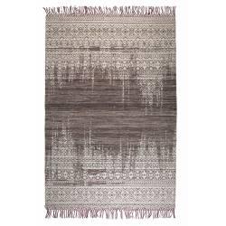 Tapis Liv Prune Woody Carpette Design Salon Tapisserie Tissu 2 Dimensions
