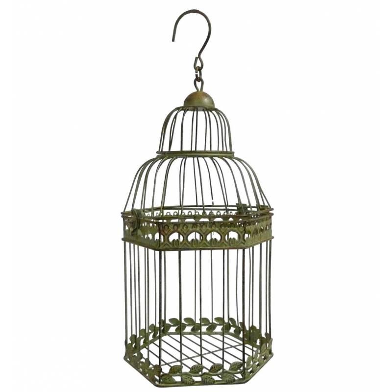 Petite cage oiseaux poser ou voli re d corative for Petite cage a oiseaux decorative