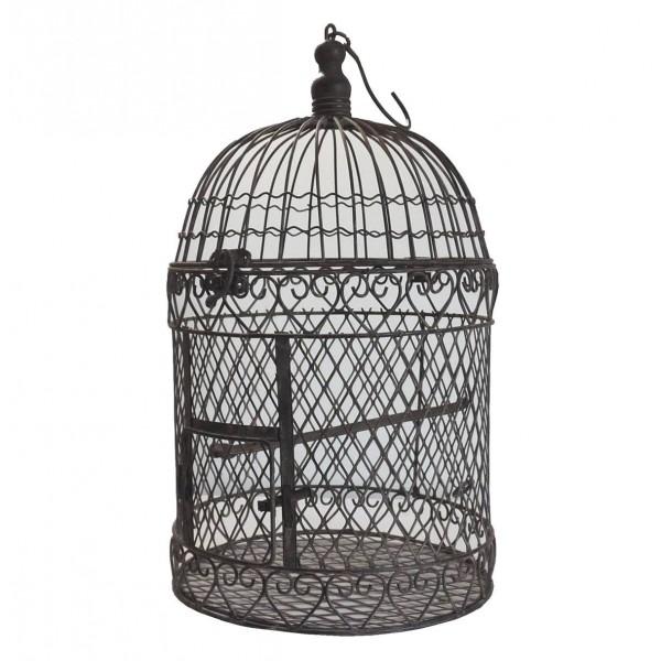 Cage à Oiseaux Ronde Métal