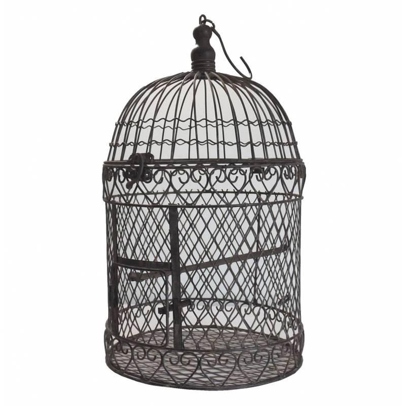 Petite cage oiseaux int rieur ext rieur ou voli re d corative de forme rond - Decorer une cage a oiseaux ...