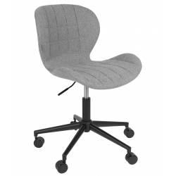 Chaise de Bureau Design OMG Zuiver Chaise Réglable Gris en Tissu 65x65x88