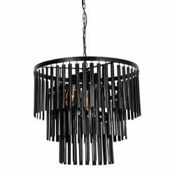 Suspension Bradia Athezza Lustre Luminaire Eclairage 2 Ampoules en Métal 55x60x60cm