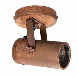 Luminaire Tendance Rouille Scope Dutchbone Applique ou Plafonnier Industriel Rampe 1 Spot en Acier 10x11x16cm