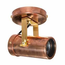 Luminaire Tendance Cuivre Scope Dutchbone Applique ou Plafonnier Industriel Rampe 1 Spot en Acier 10x11x16cm