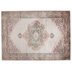 Tapis Mahal Rose Dutchbone Carpette Salon Tapisserie Tissu 2 Tailles