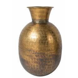 Vase à Fleurs à Poser Bahir Soliflore en Aluminium Laiton 24x24x38cm