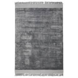 Tapis Blink Argent Zuiver Carpette à Franges de Salon en Tissu 2 Tailles