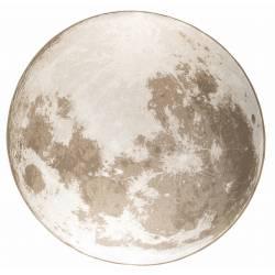 Tapis Outdoor Moon Rond Latte Soft Zuiver Carpette de Salon en Tissu 2 Tailles