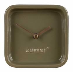 Horloge Cute Verte Zuiver Pendule à Poser en Céramique Aiguilles en Aluminium Or 6x13,5x13,5cm