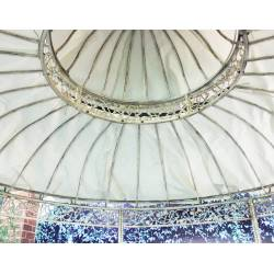Toile d'Ombrage de Gloriette HDT11005-250 Ø275cm en Toile Plastifiée Couleur Ecru