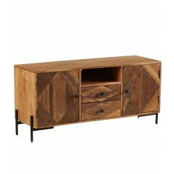 Meuble TV Kota Athezza Console de Salon Meuble de Rangement Hi-Fi en Bois 40x55x120cm