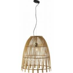 Suspension Ibiza Bambou Athezza Luminaire Plafonnier en Bambou Couleur Naturelle 51x51x60cm