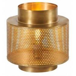 Lampe à Poser Karia Dorée Athezza Eclairage Luminaire Lustre en Métal Gold 27x27x30cm