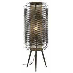 Lampe sur Pied Tao Athezza Luminaire à Poser Eclairage sur Trépied en Métal Brun 24x24x71,5cm