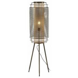 Lampe sur Pied Tao Athezza Luminaire à Poser Eclairage sur Trépied en Métal Brun 30x30x113cm