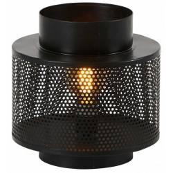 Lampe à Poser Karia Noire Athezza Eclairage Luminaire Lustre en Métal 27x27x30cm