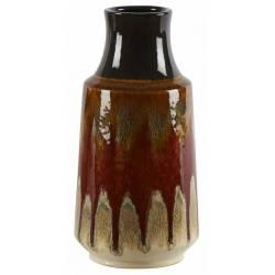 Céramique de Décoration Lava Moutarde Athezza Vase Décoration à Poser en Grès 17x17x39cm