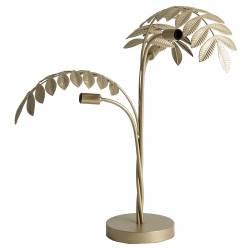 Lampe de Salon Hojas Lastdeco Luminaire sur Pied Eclairage en Métal Doré 70x77x77cm