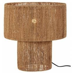 Lampe sur Pied Natram Athezza Luminaire à Poser Eclairage en Métal et Toile de Jute Naturelle 40x40x42cm