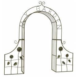 Plaque Décorative à Piquer Silhouette de Chats Décoration de Jardin en Métal Marron