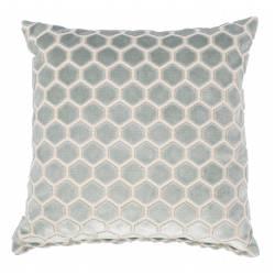 Coussin Décoratif Monty Bleu Clair et Blanc Zuiver Décoration de Canapé Lit Fauteuil en Tissu 45x45cm