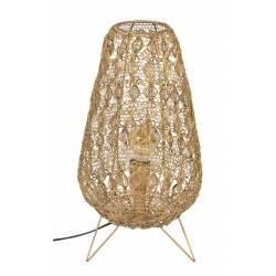 Lampe de Table Filo M Dutchbone Luminaire à Poser Eclairage sur Trépied en Métal Doré 25x25x50cm