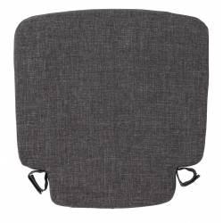 Coussin Friday Royal Black Zuiver Coussinet d'Assise pour Chaise Outdoor en Tissu Noir 2,5x42x42cm
