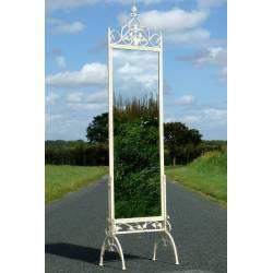 Grand Miroir Psyché sans Glace sur Pied en Fer Blanc ou Ardoise Porte Menu 60x242cm