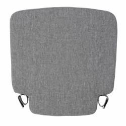 Coussin Friday Royal Grey Zuiver Coussinet d'Assise pour Chaise Outdoor en Tissu Gris 2,5x42x42cm