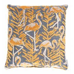 Coussin Décoratif Kylie Jaune Zuiver Décoration de Canapé Lit Fauteuil en Tissu 45x45cm