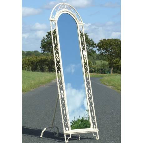 Grand Miroir Psyché sans Glace sur Pied en Fer Blanc ou Ardoise Porte Menu 69x182cm