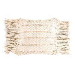 Coussin Décoratif Fringe Naturel Zuiver Décoration de Canapé Lit Fauteuil en Tissu avec Franges 45x45cm