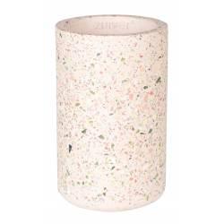 Vase Fajen en Terrazzo Rose Zuiver Décoration à Poser Cache Pot 15x15x25cm