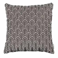 Coussin Décoratif Beverly Noir Zuiver Décoration de Canapé Lit Fauteuil en Tissu 45x45cm