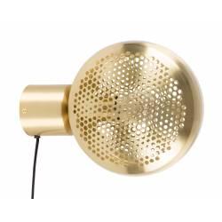 Lampe Murale Gringo Laiton Zuiver Luminaire en Métal Couleur Laitonnée Abat Jour Grille Nid d'Abeille 12x22,5x30,5cm