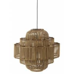 Suspension Venus Athezza Luminaire Design Eclairage en Bambou Couleur Naturelle 55x58x58cm