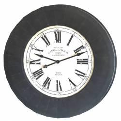 Grande Pendule Horloge Géante de Style Industriel ou Loft 112cm