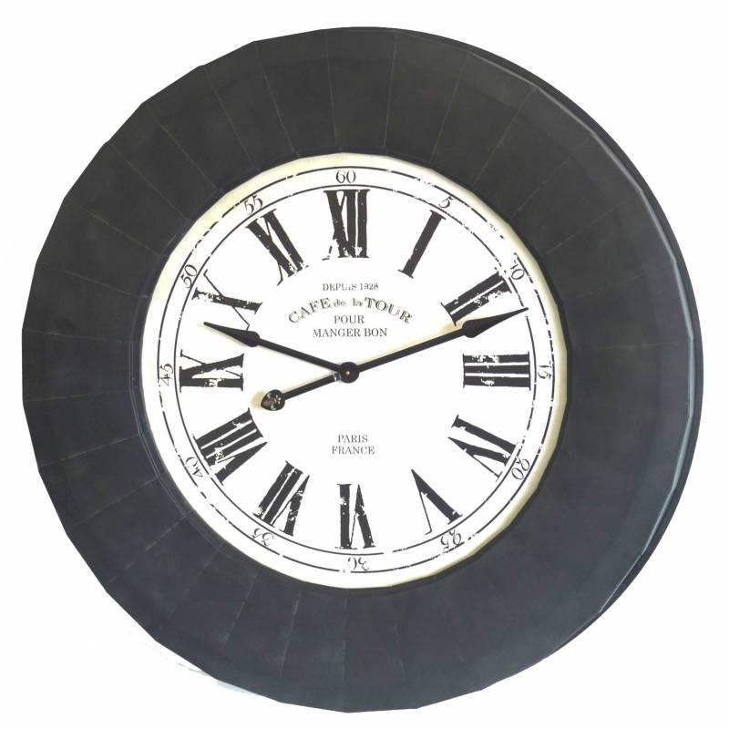 Grande pendule horloge g ante de style industriel ou loft 112cm l 39 h rit - Horloge type industriel ...
