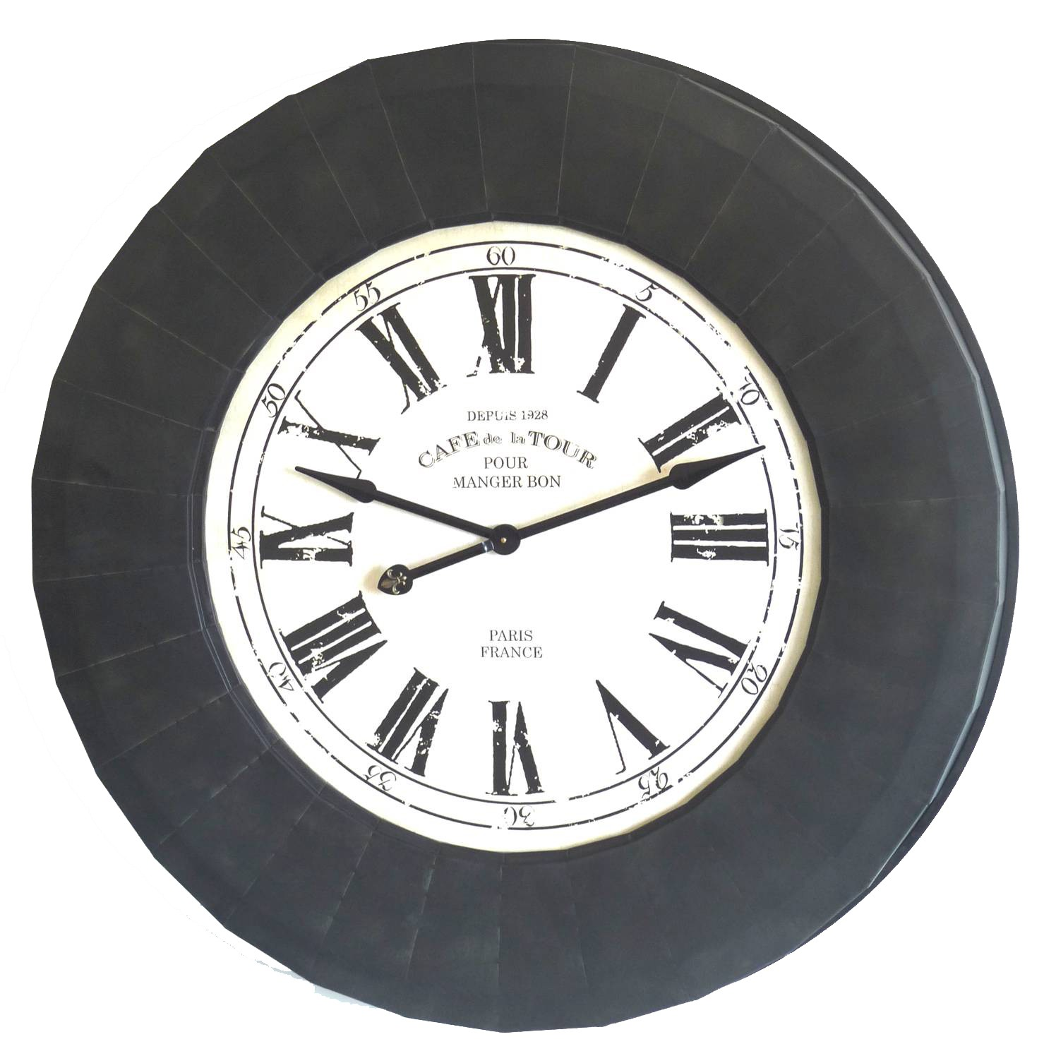 Horloge decoration cuisine for Pendule murale industrielle