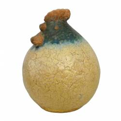 Coq en Terre Cuite Émaillée 28 cm