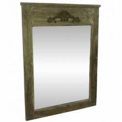 Grand Miroir de Cheminée Géant Trumeau Style Ancien Rectangulaire en Bois 4x82x110cm