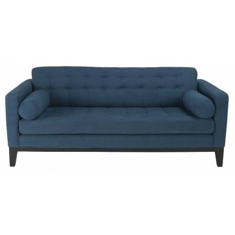Canapé Gérard 3 Places Signature Sofa Design Assise de Salon en Tissu Bleu 75x87x182cm