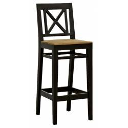 Chaise de Bar Loudéac De Kercoet Assise de Comptoir Siège de Bar en Acacia Massif 39x45x108cm