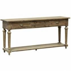 Console Granville Table de Drapier Meuble d'Appoint de Rangement en Acacia De Kercoet 50x87x183cm